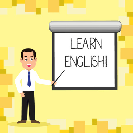 Word writing text Learn English. Business concept for Study another Language Learn Something Foreign Communication
