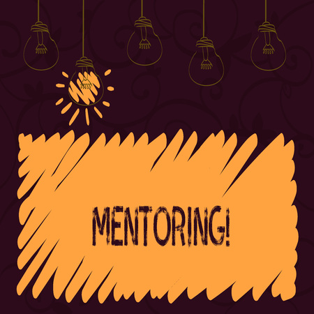 Word writing text Mentoring. Business concept for To give advice or support to a younger less experienced demonstrating Stockfoto