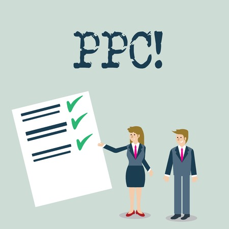 Text sign showing Ppc. Conceptual photo Pay Per Click Advertising Strategies Direct Traffic to Websites