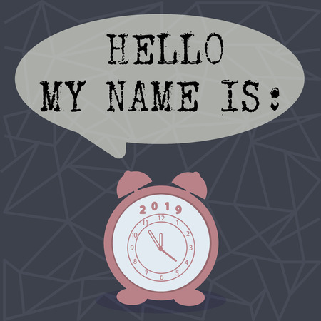 Text sign showing Hello My Name Is. Conceptual photo meeting someone new Introduction Interview Presentation