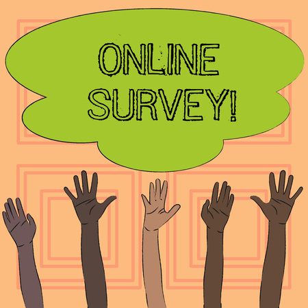 Text sign showing Online Survey. Conceptual photo Digital Media Poll Customer Feedback Opinions Questionnaire