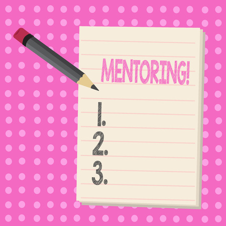 Conceptual hand writing showing Mentoring. Business photo text To give advice or support to a younger less experienced demonstrating