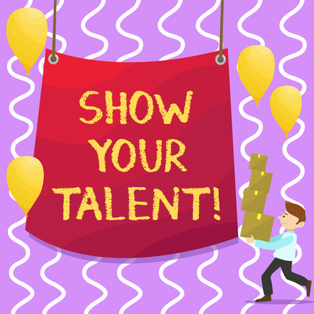 Conceptual hand writing showing Show Your Talent. Business photo showcasing Demonstrate demonstratingal skills abilities knowledge aptitudes 写真素材