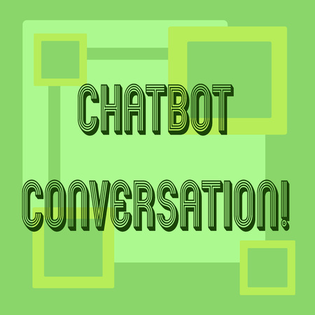 Handwriting text Chatbot Conversation. Concept meaning Chatting with virtual assistant artificial intelligence