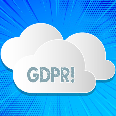 Word writing text Gdpr. Business concept for General Data Protection Regulation Information Safety