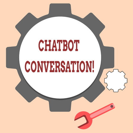 Handwriting text writing Chatbot Conversation. Concept meaning Chatting with virtual assistant artificial intelligence