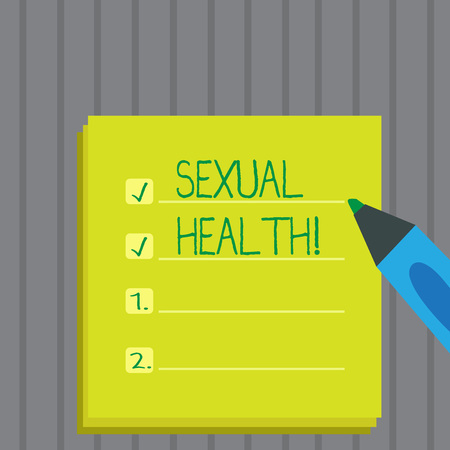 Conceptual hand writing showing Sexual Health. Business photo showcasing STD prevention Use Protection Healthy Habits Sex Care