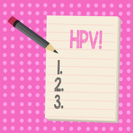 Conceptual hand writing showing Hpv. Business photo text Huanalysis Papillomavirus Infection Sexually Transmitted Disease Illness Stock Photo