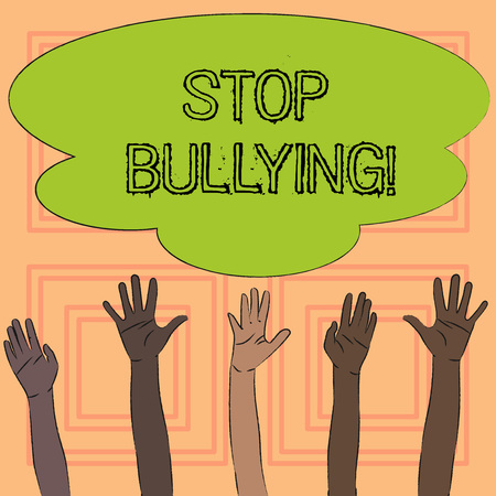 Text sign showing Stop Bullying. Conceptual photo Do not continue Abuse Harassment Aggression Assault Scaring