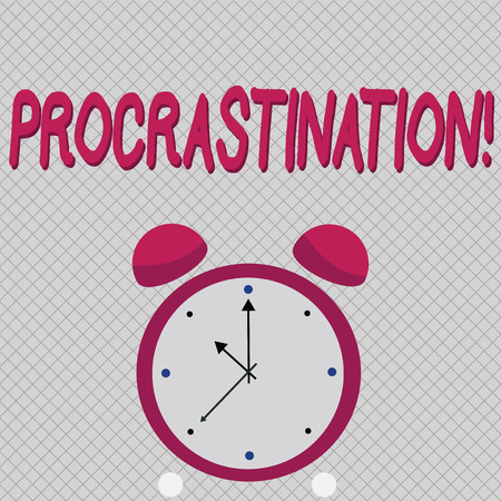 Word writing text Procrastination. Business concept for Delay or Postpone something boring