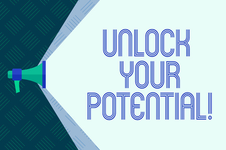 Word writing text Unlock Your Potential. Business concept for Reveal talent Sow Skills Abilities