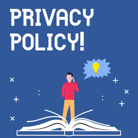 Handwriting text writing Privacy Policy. Concept meaning Document Information Security Confidential Data Protection