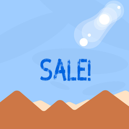 Word writing text Sale. Business concept for Selling goods at reduced prices Make a Sell