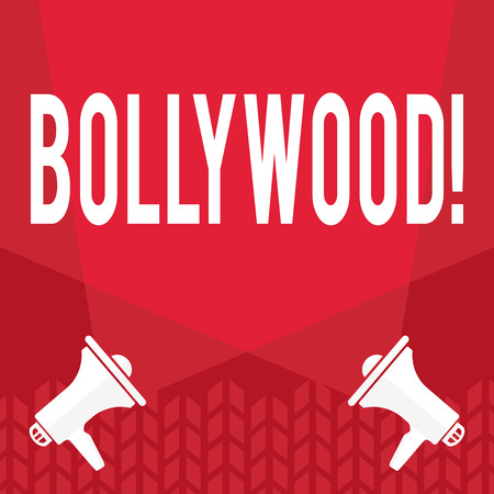 Word writing text Bollywood. Business concept for Indian cinema a source of entertainment among new generation