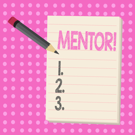 Conceptual hand writing showing Mentor. Business photo text Person who gives advice or support to a younger less experienced