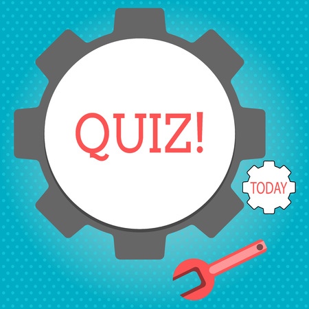 Text sign showing Quiz. Conceptual photo Short Tests Evaluation Examination to quantify your knowledge