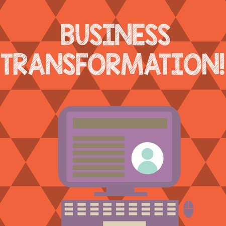 Text sign showing Business Transformation. Conceptual photo Making changes in conduction of the company Upgrade