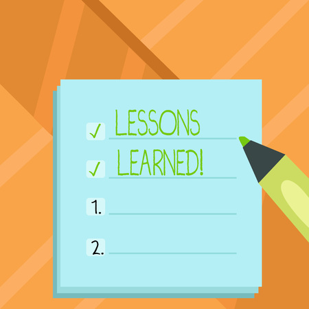 Word writing text Lessons Learned. Business concept for Experiences that should be taken into account in the future 版權商用圖片