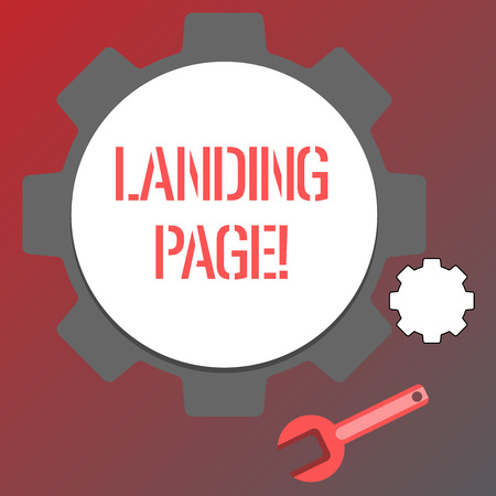 Conceptual hand writing showing Landing Page. Business photo text Website accessed by clicking a link on another web page