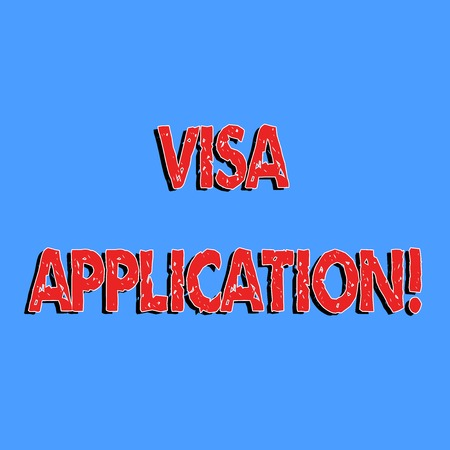 Text sign showing Visa Application. Conceptual photo sheet to provide your basic information