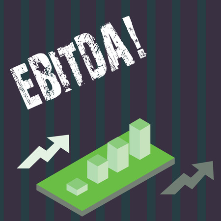 Handwriting text Ebitda. Concept meaning Earnings before tax is measured to evaluate company perforanalysisce Banque d'images