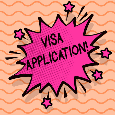 Word writing text Visa Application. Business concept for sheet to provide your basic information