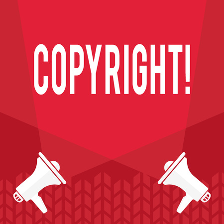 Word writing text Copyright. Business concept for Saying no to intellectual property piracy 免版税图像