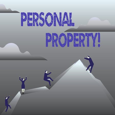 Handwriting text Personal Property. Concept meaning Belongings possessions assets private individual owner 版權商用圖片