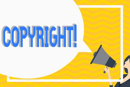 Conceptual hand writing showing Copyright. Business photo showcasing Saying no to intellectual property piracy