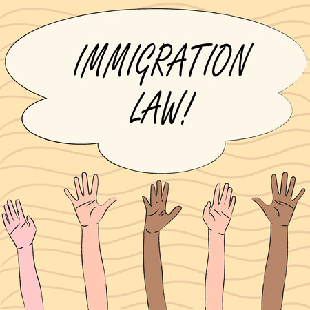 Word writing text Immigration Law. Business concept for National Regulations for immigrants Deportation rules Reklamní fotografie