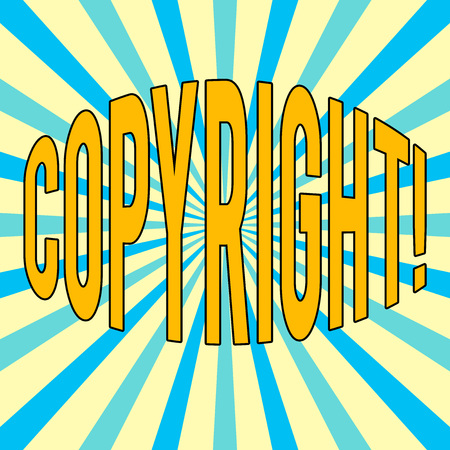 Handwriting text Copyright. Concept meaning Saying no to intellectual property piracy