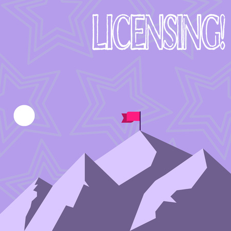 Text sign showing Licensing. Conceptual photo Grant a license Legally permit the use of something Allow activity