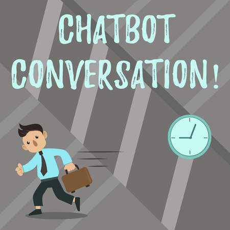 Word writing text Chatbot Conversation. Business concept for Chatting with virtual assistant artificial intelligence