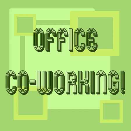 Handwriting text Office Co Working. Concept meaning Business services providing shared spaces to work Reklamní fotografie