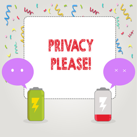 Text sign showing Privacy Please. Conceptual photo Let us Be Quiet Rest Relaxed Do not Disturb