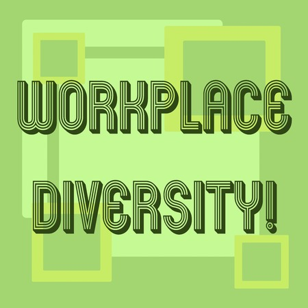 Handwriting text Workplace Diversity. Concept meaning Different race gender age sexual orientation of workers 스톡 콘텐츠