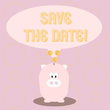 Text sign showing Save The Date. Conceptual photo Remember not to schedule anything else that time Appointment