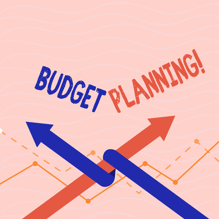 Text sign showing Budget Planning. Conceptual photo Financial Planning Evaluation of earnings and expenses