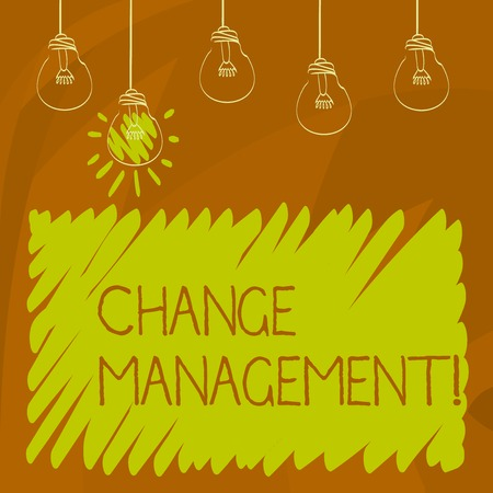 Conceptual hand writing showing Change Management. Business photo showcasing replace leaderships or People in charge Replacement Stock Photo