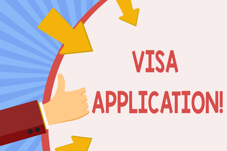 Writing note showing Visa Application. Business photo showcasing sheet to provide your basic information Imagens