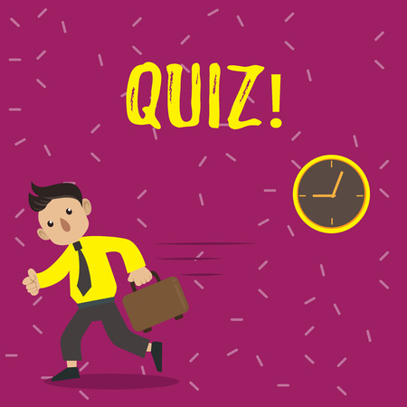 Handwriting text Quiz. Concept meaning Short Tests Evaluation Examination to quantify your knowledge