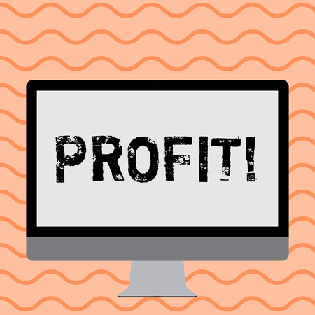 Writing note showing Profit. Business photo showcasing Earned Money Payment Salary Business Revenue