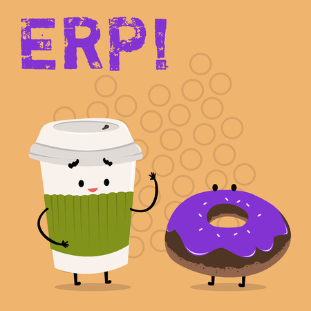 Text sign showing Erp. Conceptual photo Enterprise resource planning with automate back office functions