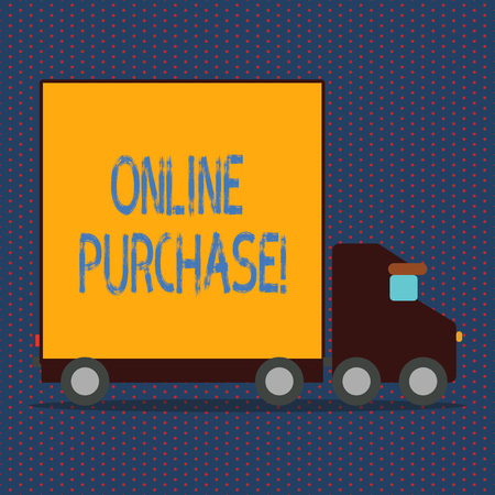 Word writing text Online Purchase. Business concept for Buy things on the net Go shopping without leaving home