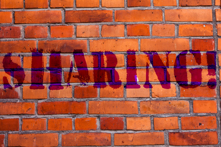 Text sign showing Sharing. Business photo text To Share Give a portion of something to another Possess in common Brick Wall art like Graffiti motivational call written on the wall