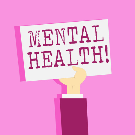 Writing note showing Mental Health. Business concept for Psychological and Emotional Condition Wellbeing of a demonstrating