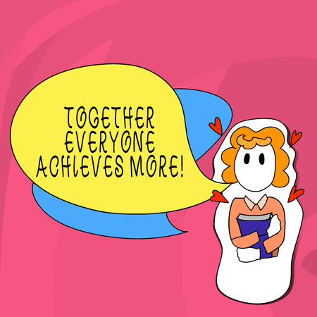 Word writing text Together Everyone Achieves More. Business photo showcasing Teamwork Cooperation Attain Acquire Success Stock Photo