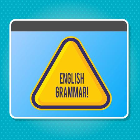 Handwriting text writing English Grammar. Conceptual photo Language Knowledge School Education Literature Reading Imagens