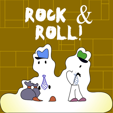 Handwriting text Rock And Roll. Conceptual photo Musical Genre Type of popular dance music Heavy Beat Sound