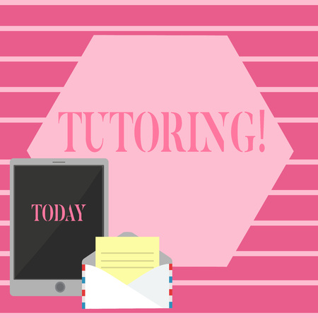 Handwriting text Tutoring. Conceptual photo Mentoring Teaching Instructing Preparing Supporting Give lessons